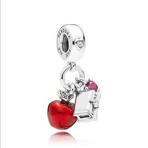 Disney, Snow White's Apple & Heart Dangle Charm